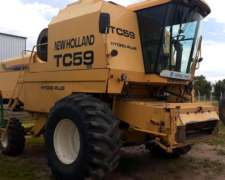 Cosechadora New Holland TC 59, 23 Pies, Patona, 2000