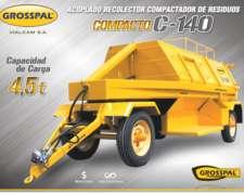 Acoplado Grosspal Recolector Compactador de Residuos C140