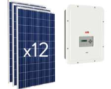 Kit Solar 0n-grid 3.300 W Fotovoltaico Certificado