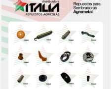 Repuestos para Sembradoras Agrometal, Linea Completa.