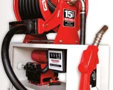 Surtidor Mecánico a 12 y 220 Volts. GAS OIL / con Enrollador