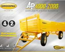 Acoplado Playo AP4000-2000 Grosspal