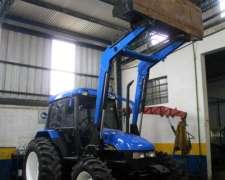 Tractor New Holland TL 75e con Pala y Pinche