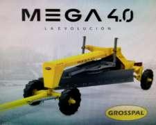 Niveladora de Arrastre Mega 4.0. Grosspal Nueva