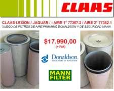 Filtros de Aire 1° y 2° - Claas Lexion y Jaguar