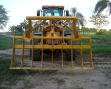 Rastrillo Frontal de Limpieza Adapt. a Cargador Tractor Topa