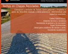 Techos de Chapas Recicladas 10 X 50 500 M2