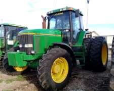 Tractor John Deere 7800, Tracción Doble, C/duales, 1998