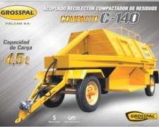 Acoplado Recolector Compactador de Residuos, Compacto C 140