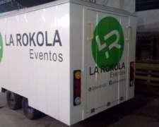 Trailer Cerrado Con Rampa Y Puerta Lateral 4x2x2mts