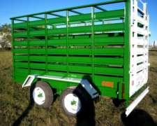 Acoplado Jaula para Transporte de Animales