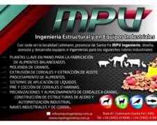 Plantas Alimentos Balanceados, Extrusados - MPV Ingerniería