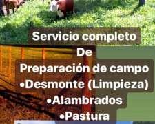 Servicio de Desmonte y Preparación de Campo
