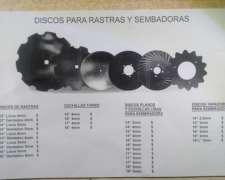 Discos para Rastras y Sembradoras Primeras Marcas