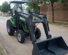 Tractor 25 / 30 /40 /50 HP 4X4 3 Puntos Tipo Deutz Pala