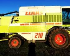Cosechadora Claas Mega 218 - año 2000