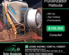 Pulverizador Tipo Turbina Hatsuta de 400 Litros