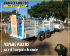 Acoplado Jaula Balancín Chanchero TCF