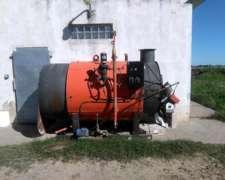 Caldera A Gas Convertible A Leña 20 Mts De Calefaccion