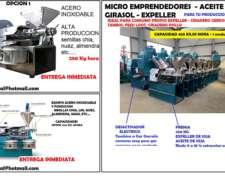 Prensa Aceite Soja - Lino, Nuez,chia.- Expeller Soja -pellet