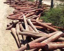 Postes De Quebracho Colorado Labrados 2,20 2,40