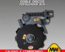 Doble Disco Fertilizador 16/14 para Todas las Marcas