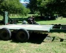 Trailer Para Maquinarias 7/8 Tn. Dos Ejes Rod. 750x16,rampas