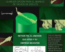 Percha Pinza Gancho Para Tambores 200 Litros Jawhook