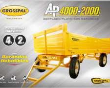 Acoplado Playo con Barandas AP 4000 - Grosspal