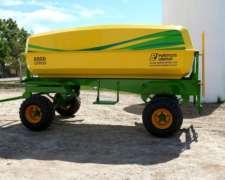 Acoplado Tanque 8.000 Litros. P.r.f.v. (agua, Fertilizante,)
