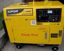 Grupo Electrogeno Diesel Kipor Monofasico 6 Kva Cabinado
