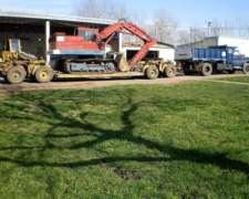 Excavadora Poclain LC80 Sobre Carreton. en USO