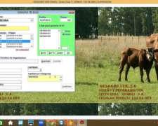 Software Ganadero, Gestion De Caravanas, Tri Y Txt