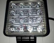 535 , Faro LED 48w Cuadrado 16leds LUZ Blanca