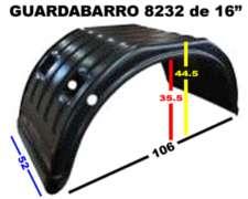 Guardabarro Trasero Traccion M.benz 608 y 710 Rodado 16