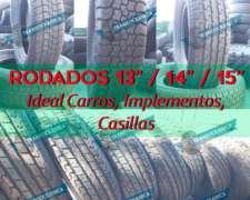 Cubiertas Rodado 13/ 14/ 15 - Ideal Carros, Casillas, Implem
