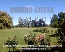 Casa De Campo En Venta.manzanares. 23 Has. Ideal Para Polo