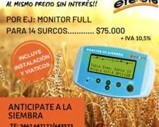 Monitor de Siembra EFE y EFE Instalado C/ Viáticos 14 Surcos