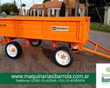 Acoplado Playo Mauro 2/3tn 3mts. X 1.90mts con Barandas 45cm