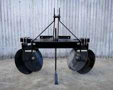 Aporcador - Alomador Con Subsolador Central, Para Tractor