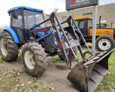 Tractor New Holland TD 5.90 con Pala GYP y Cabina