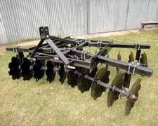 Rastra De 20 Discos Para Levante De 3 Puntos De Tractor