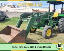 Tractor John Deere 5065 E, con Pala el Conde