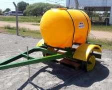 Acoplado Tanque De Agua 1000lts.