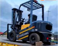 Autoelevador Liugong CPCD25 2500kg Triple Torre C/ Desp.