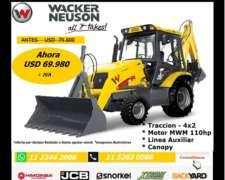 Pala Retro Wacker - 4X2 110 HP - Nueva 0hs -dolar Oficial