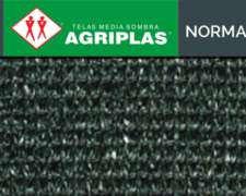 Media Sombra Agriplas Normal Color Negro Cadena Verde 80% 4,