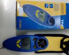 Anemómetro Tfa- Viento Y Temperatura. Display Con Luz
