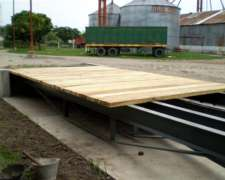 Basculas para el Pesaje de Camiones y Plataformas Hidraulica