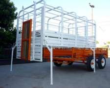 Acoplado Jaula Desmontable Carro Trailer Vaquero 3.5 Mts